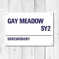 Gay Meadow, Shrewsbury Town Metal Sign