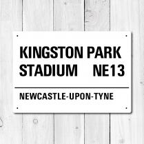 Kingston Park Stadium, Newcastle-upon-Tyne Metal Sign