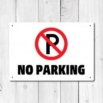 No Parking Metal Sign