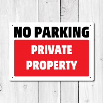 No Parking Private Property Metal Sign