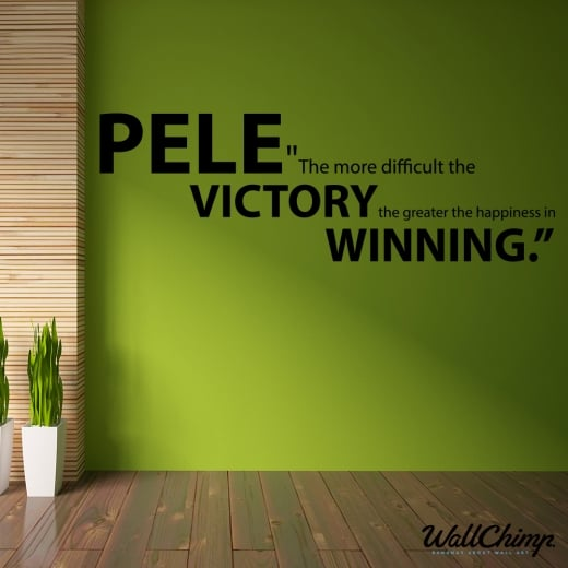 WallChimp Pele Motivational Football Quote Wall Sticker