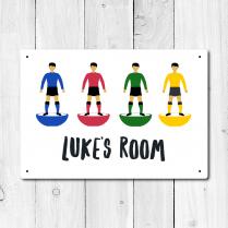 Personalised Football Player Metal Door Sign