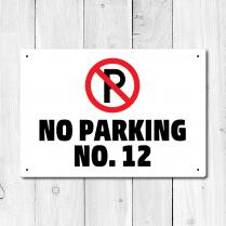 Personalised No Parking Metal Sign
