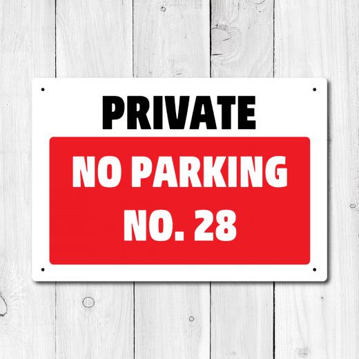 WallChimp Personalised Private No Parking Metal Sign