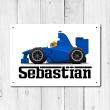 WallChimp Personalised Race Car Metal Door Sign