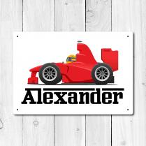 Personalised Race Car Metal Door Sign