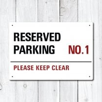 Personalised 'Reserved Parking' Metal Sign
