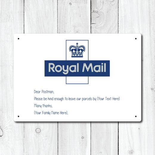 WallChimp Personalised Royal Mail Message Metal Sign