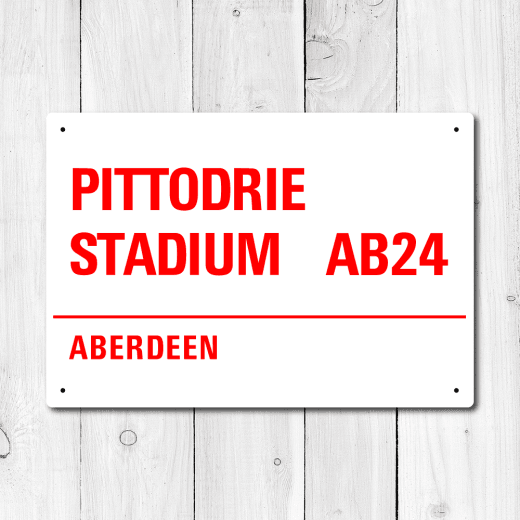WallChimp Pittodrie Stadium, Aberdeen Metal Sign