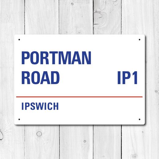 WallChimp Portman Road, Ipswich Metal Sign