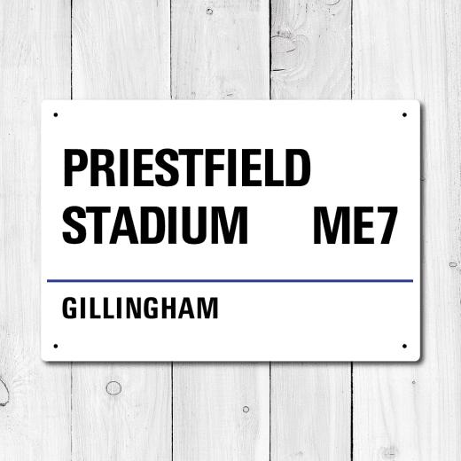 WallChimp Priestfield Stadium, Gillingham Metal Sign