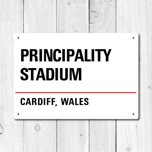 WallChimp Principality Stadium, Cardiff, Wales Metal Sign