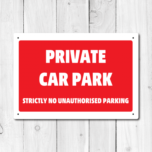 WallChimp Private Car Park Metal Sign