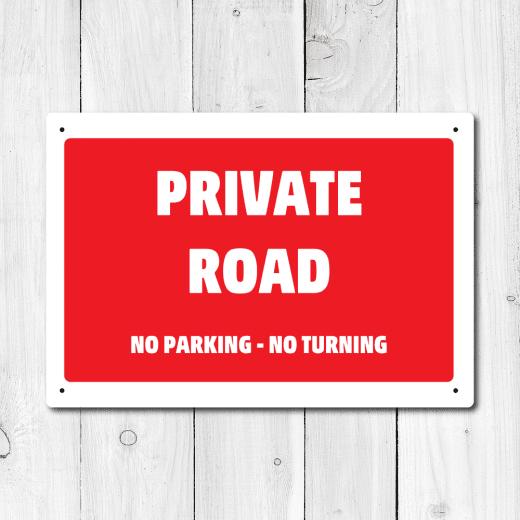 WallChimp Private Road Metal Sign