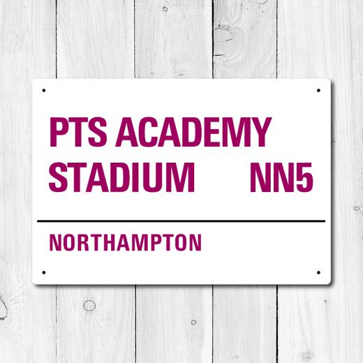WallChimp PTS Academy Stadium, Northampton Metal Sign