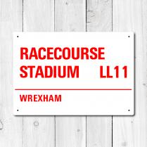 Racecourse Stadium, Wrexham Metal Sign