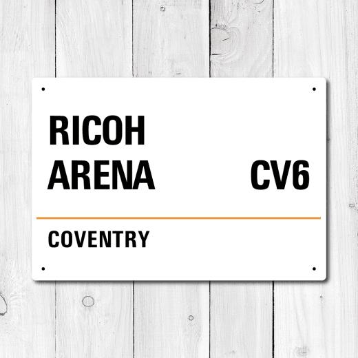 WallChimp Ricoh Arena, Coventry Metal Sign