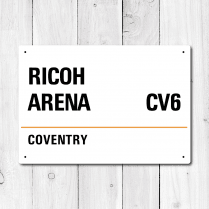Ricoh Arena, Coventry Metal Sign