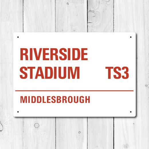 WallChimp Riverside Stadium, Middlesbrough Metal Sign