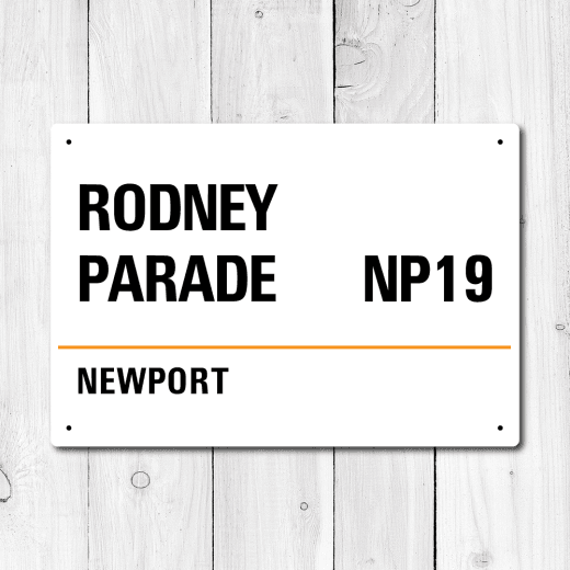 WallChimp Rodney Parade, Newport Metal Sign