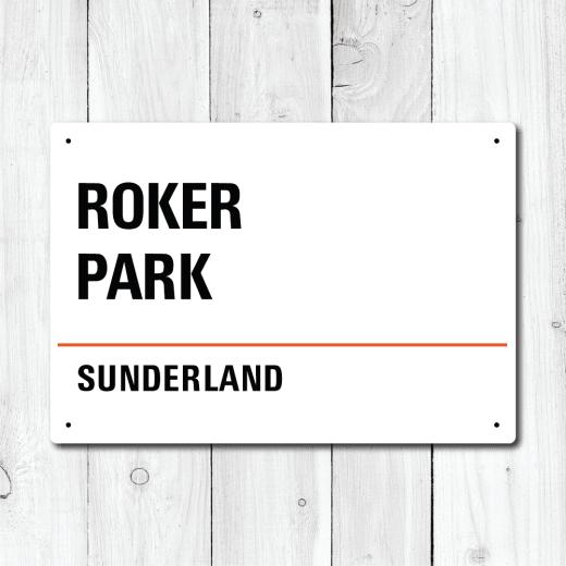 WallChimp Roker Park, Sunderland Metal Sign