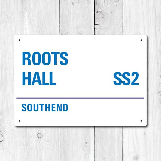 WallChimp Roots Hall, Southend Metal Sign