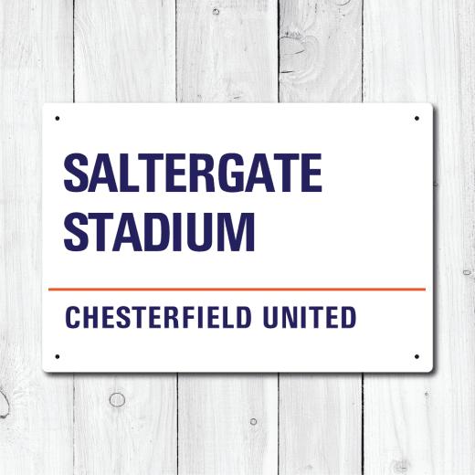 WallChimp Saltergate Stadium, Chesterfield United Metal Sign