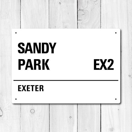 WallChimp Sandy Park, Exeter Metal Sign
