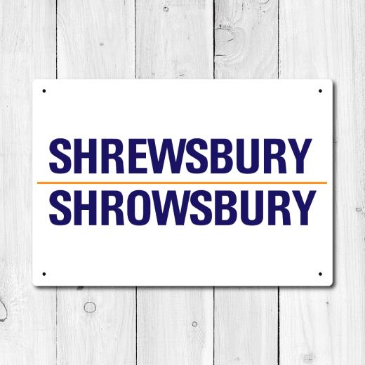 WallChimp Shrewsbury, Shrowsbury Metal Sign