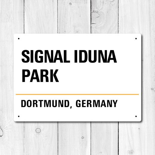 WallChimp Signal Iduna Park, Dortmund, Germany Metal Sign