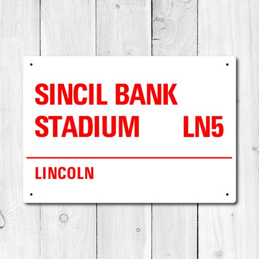 WallChimp Sincil Bank Stadium, Lincoln Metal Sign