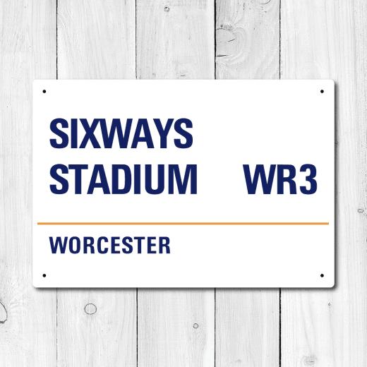 WallChimp Sixways Stadium, Worcester Metal Sign