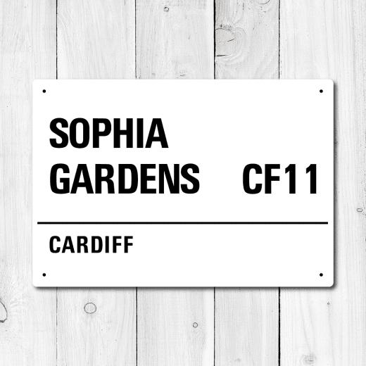 WallChimp Sophia Gardens, Cardiff Metal Sign