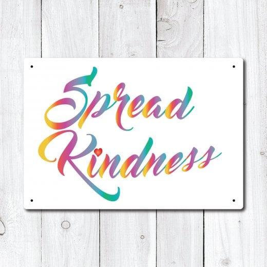 WallChimp Spread Kindness Metal Sign
