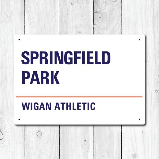 WallChimp Springfield Park, Wigan Athletic Metal Sign