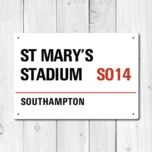 WallChimp St Mary's Stadium, Southampton Metal Sign