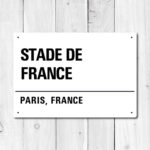 WallChimp Stade de France, Paris, France Metal Sign