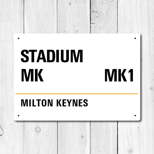 WallChimp Stadium MK, Milton Keynes Metal Sign