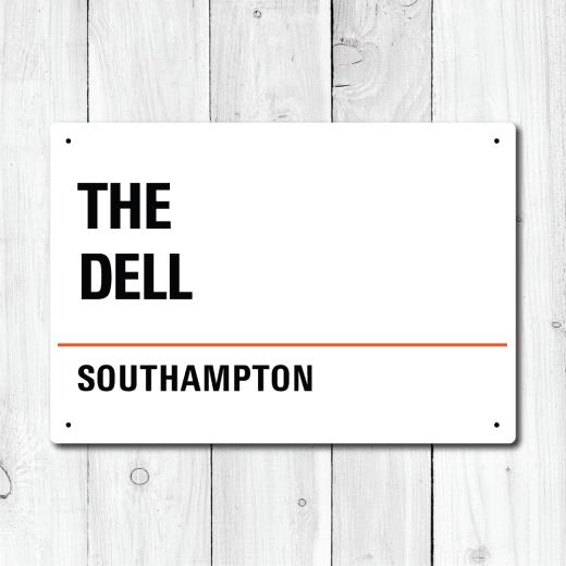 WallChimp The Dell, Southampton Metal Sign