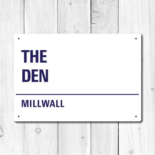 WallChimp The Den, Millwall Metal Sign
