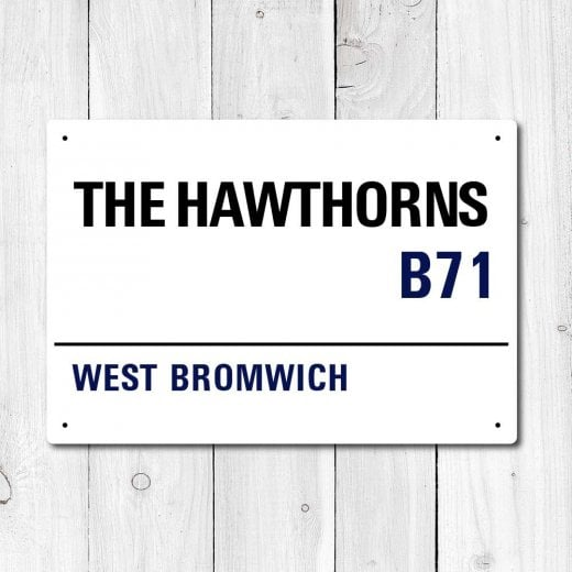 WallChimp The Hawthorns, West Bromwich Metal Sign