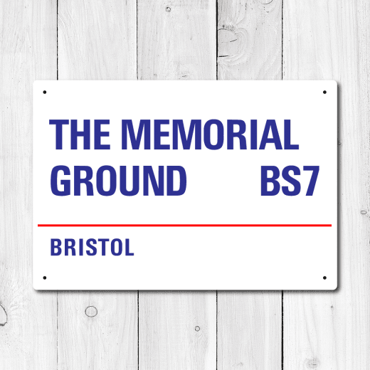 WallChimp The Memorial Ground, Bristol Metal Sign