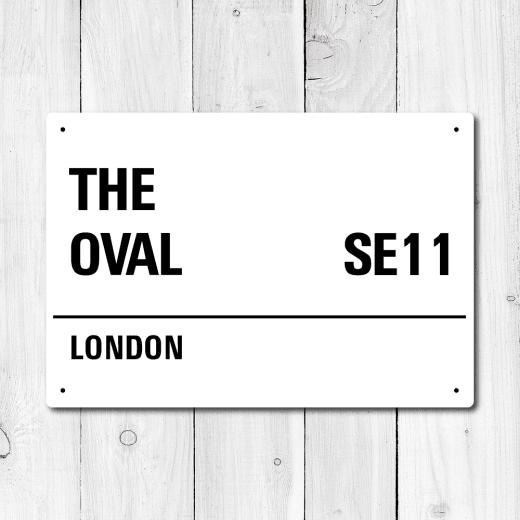 WallChimp The Oval, London Metal Sign
