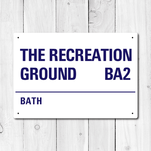 WallChimp The Recreation Ground, Bath Metal Sign