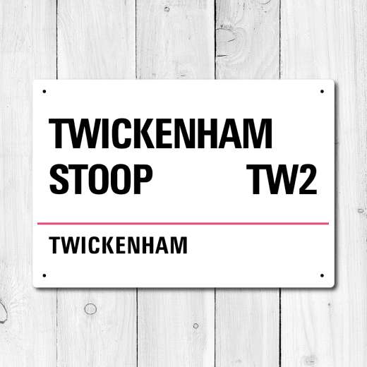WallChimp The Twickenham Stoop, Twickenham Metal Sign