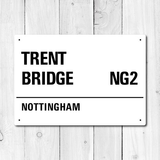 WallChimp Trent Bridge, Nottingham Metal Sign