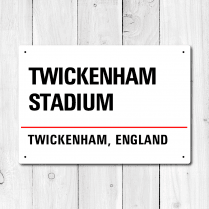 Twickenham Stadium, Twickenham, England Metal Sign