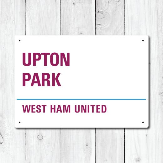 WallChimp Upton Park, West Ham United Metal Sign