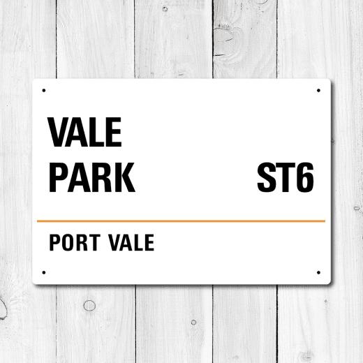 WallChimp Vale Park, Port Vale Metal Sign