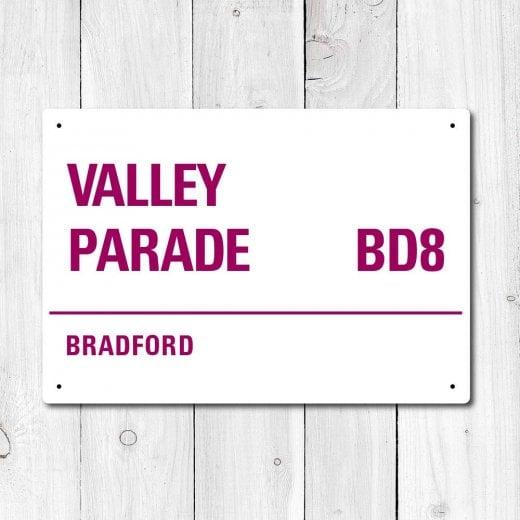 WallChimp Valley Parade, Bradford Metal Sign